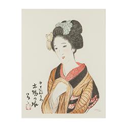 竹久 夢二‐「女十題」より「木場の娘」