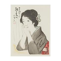竹久 夢二‐「女十題」より 「朝の光へ」